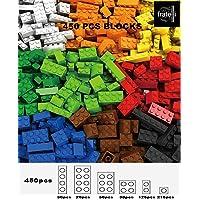 FRATELLI® Building Blocks for Kids - Certified to International Saftey Standards (450 PCS Assorted Building Brick Blocks…