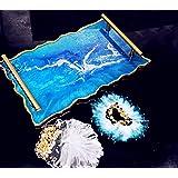 JeVenis 3 pezzi di lusso silicone vassoio in resina stampo vassoio di rotolamento stampo sottobicchiere stampo gioielli piatt
