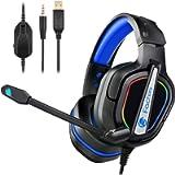 Fachixy Cuffie Gaming per PS4 Xbox One con Microfono, Multi-Platform Riduzione del Rumore Cuffie con Confortevole Stereo…