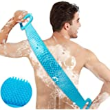 ASIGN® Silicone Body Scrubber/Bath Body Cleaning Belt/Skin Brush Belt/Exfoliating/Exfoliator Body Washable Scrubber…