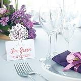 LEMESO 60 pz Segnaposto Matrimonio Battesimo Capodanno Compleanno Cartellini Kraft Segna Posto da Tavolo Biglietti Perlato Bi
