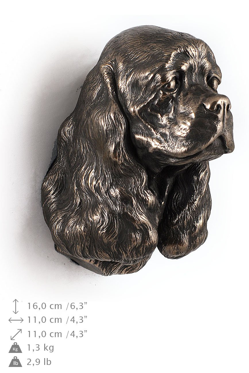 American Cocker Spaniel, statue figure hanging on the wall limited ArtDog