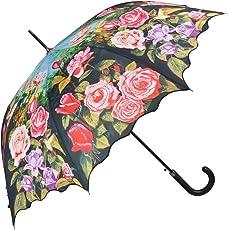 Regenschirm Stockschirm mit Motiv Rosengarten