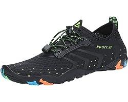 SAGUARO Water Sports Shoes Barefoot Quick-Dry Pool Shoes Lightweight Beach Sea Swim Surf Diving Boating Sailing Aqua Aerobics