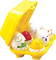 TOMY Toomies Hide and Squeak Eggs - Educational Shape Sorter Toy - Suitable From 6 Months