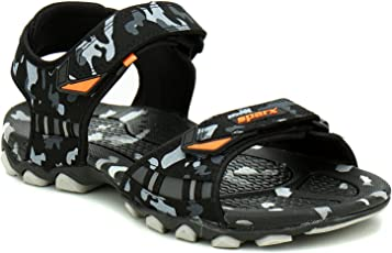 Stride_Go Sparx SM-467 Black Sandals for Men