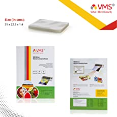 Vms Deluxe Thermal Lamination Pouch 225X310-80 Mic