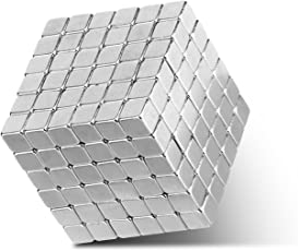 Magnetic Holders Multi-Use Square Cube Magnets Toy Puzzle Magnet Block Magic Cube Education Toys Metal 3x3x3mm (216 Pack)