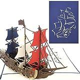 PopLife Man O' War Ship Pop Up Card for All Occasions - Happy Birthday, Graduation, Congratulations, Retirement, Anniversary