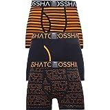 Crosshatch Mens Boxers Designer 3 Pack Trunks Underwear
