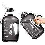 Bouteille d'eau, GHONLZIN 1 Gallon Water Bottle Gourde Sport Gourde Reutilisable sans BPA Anti-Fuite , Bouteille avec Traqueu