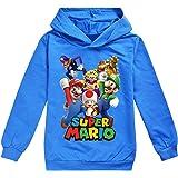 Super-Mario - Sudadera con capucha para niños de 3 a 14 años