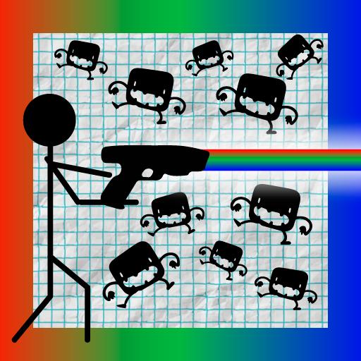 Stickman Games: Stickman Fighter RGB Laser Gun