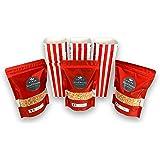 Mais à Pop-Corn - Lot de 3 sachets fraicheur 500g avec en CADEAUX 30 boites carton à popcorns comme au cinéma ou à la fête fo