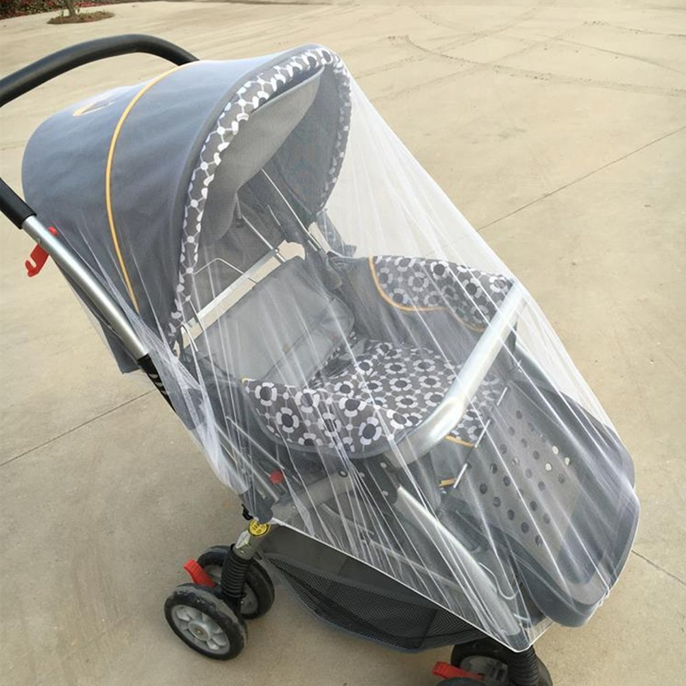 Blue Mosquito Net Stroller Cover for Pushchair Cot Moses Basket Pram Carseat Stroller Buggy