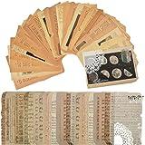 50 feuilles de papier de scrapbooking vintage,scrapbooking papier,scrapbooking,DIY Album Photo Décoration pour Journal Artisa