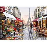 Godyluck Diamond Painting Diy 5D City Diamond Painting Cube Round Shape Diamond Paintings Kits Arts Craft For Room Wall Decor