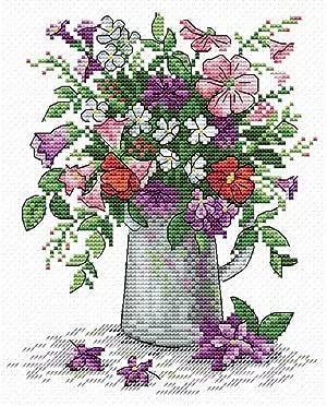 Kit au point compt/é Arrosoir avec fleurs