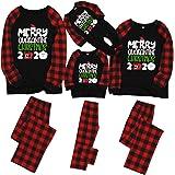 HETde_Sleeveless Family Matching Pyjamas Set,2020 Matching Christmas PJS Pyjamas Sets,Matching Pajamas Xmas Red Plaid Nightwe