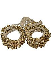 FANCY STEPS Ghungroo 50 - 50 Bell Pair 1.6 cm, Kathak Ghungru 50 Bells - Dancing Bells Anklets