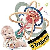 CubicFun Massaggia Gengive per Neonati Palla Sonagli Giochi Neonato 0-3 6 9 mesi, Dentizione Neonati Giocattolo Sensoriale, M