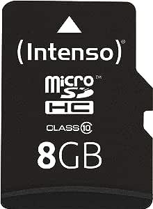 Intenso Micro Sdhc 8gb Class 10 Speicherkarte Inkl Sd Adapter Schwarz