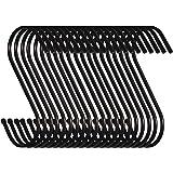 Swatowot Set van 20 S-vormige haken om op te hangen, 9 cm, voor keuken, badkamer, slaapkamer en kantoor, 20 stuks, groot, zwa