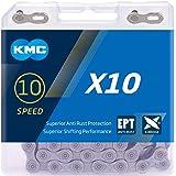 KMC Uniseks X10 Ept fietsketting, voor volwassenen, anti-roest, zwart, 1 maat