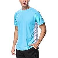 CharmLeaks Men's Short Sleeve Rash Vest Tops UV Swim Shirts