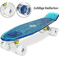 """WeSkate Cruiser Skateboard Tavola Completa Mini Skateboard 22""""55CM Penny Board con PU LED Ruote, Cuscinetto ABEC-7 Regalo per Adulti Adolescenti Bambini Ragazzi Ragazze"""