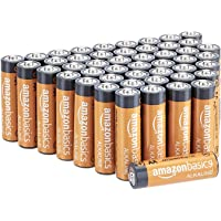 AmazonBasics AA 1.5 Volt Performance Alkaline Batteries - Pack of 48 (Appearance may vary)