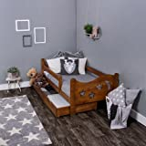 KAGU Chrisi Kinderbett Jugendbett Juniorbett Bett (140x70 cm oder 160x80 cm). Kiefernholz Massivholz inkl. Matratze und Schublade. (160 x 80 cm, Eiche)