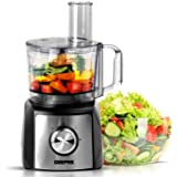 Geepas 1200W Compact Food Processor | Multifunctional Electric Chopper with Shredder & Grater Attachments | 1.2L Bowl Capacity | Stainless Steel & Dough Blades Included - 2 Years Warranty