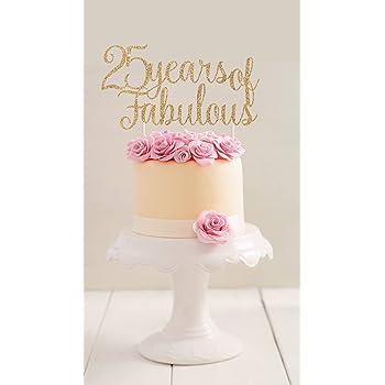 Qidushop 25 Jahren Wunderbare Tortenaufsatz Für Geburtstag Party 25