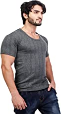 ZIMFIT Cotton Men's or Boy's Winter wear Round Neck Half Sleeves Thermal,Warmer Top in Dark Grey Colour (Pack of 1)
