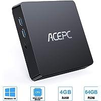 Mini PC,T11 Intel Atom Z8350 Windows 10 Pro (64 bit) Mini Computer,4 GB DDR+64 GB eMMC/interno da 120 GB da 2.5 pollici SSD SATA/4K HD/BT 4.2/USB3.0 Desktop,WiFi 2.4/5G+Gigabit Ethernet
