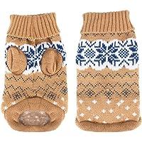 Idepet Hundepullover, Winter Warmer Hund Katzenpullover Kleidung Haustiermantel Kostüm Welpenpullover Pullover…