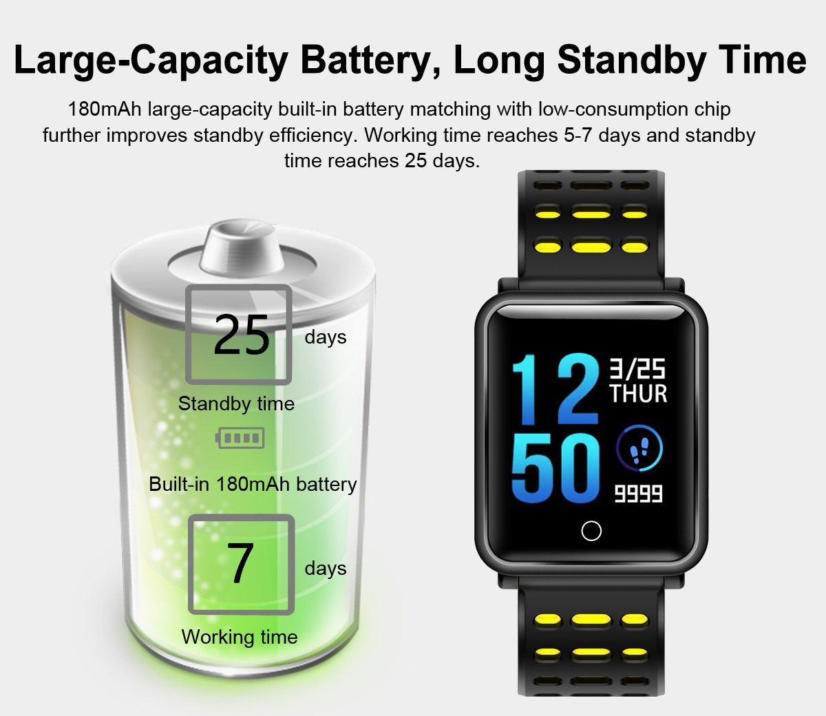 TagoBee TB06 IP68 a Prueba de Agua Smart Watch HD Touch Screen Fitness Tracker Soporte de presión Arterial frecuencia… 6