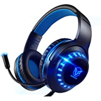 Pacrate PC Gaming Headset für PS4 Xbox One PC, Rauschunterdrückung Over-Ear LED PS4 Headset…
