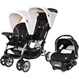 Baby Trend Sit N Stand Compact Easy Fold Toddler Baby Infant Double Stroller with Baby Trend Ally 35 Baby Infant Car Seat Car