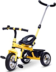 R for Rabbit Tiny Toes Grand - The Smart Plug and Play Baby Tricycle for Kids/Baby (Yellow)