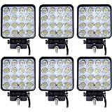 6 focos LED SLPRO® de trabajo de 48 W, 3800 lumen, temperatura de color de 6000K, protección IP67, luces de marcha atrás para