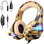 Comfortable Gaming Headset with Rotatable, Noise Reduction Mic for PS4 , Nintendo Switch,Xbox One, PC, Laptop, Mac ,Smart...