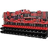 PAFEN Wandplank | 1728 x 780 mm | Opbergsysteem met gereedschapshouders en stapelboxen - wandplaten extra sterk PAFEN schudre