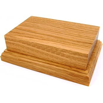 Base Diameter 14cm top Round Solid Wooden Display Plinth