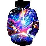 NEWISTAR Unisex Hoodies HD 3D Print Pullover Lightweight Sweatshirts Pockets