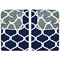 Divine Casa Reversible Abstract and Abstract Single Dohar/AC Blanket Set of 2-Blue