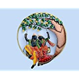 Collectible India Iron Wall Hanging Art Sculpture (21.5 x 21.5 inch, Multicolour)
