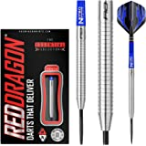 Red Dragon Razor Edge Original Steel Dartpfeile 20g, 21g, 23g, 24g, 26g, 29g oder 30g Profi Steeldarts Set, 3 x Steel Darts mit Flights und Schäfte