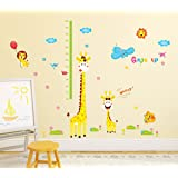 Amazon Brand - Solimo PVC Vinyl Animal Wall Sticker 50 cm x 70 cm x 1 cm, Multicolour